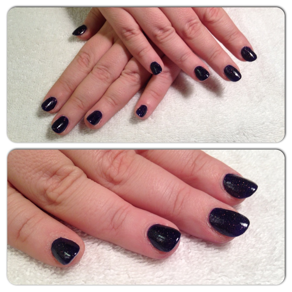 Creative Nails Extensions with OPI Midnight Blue